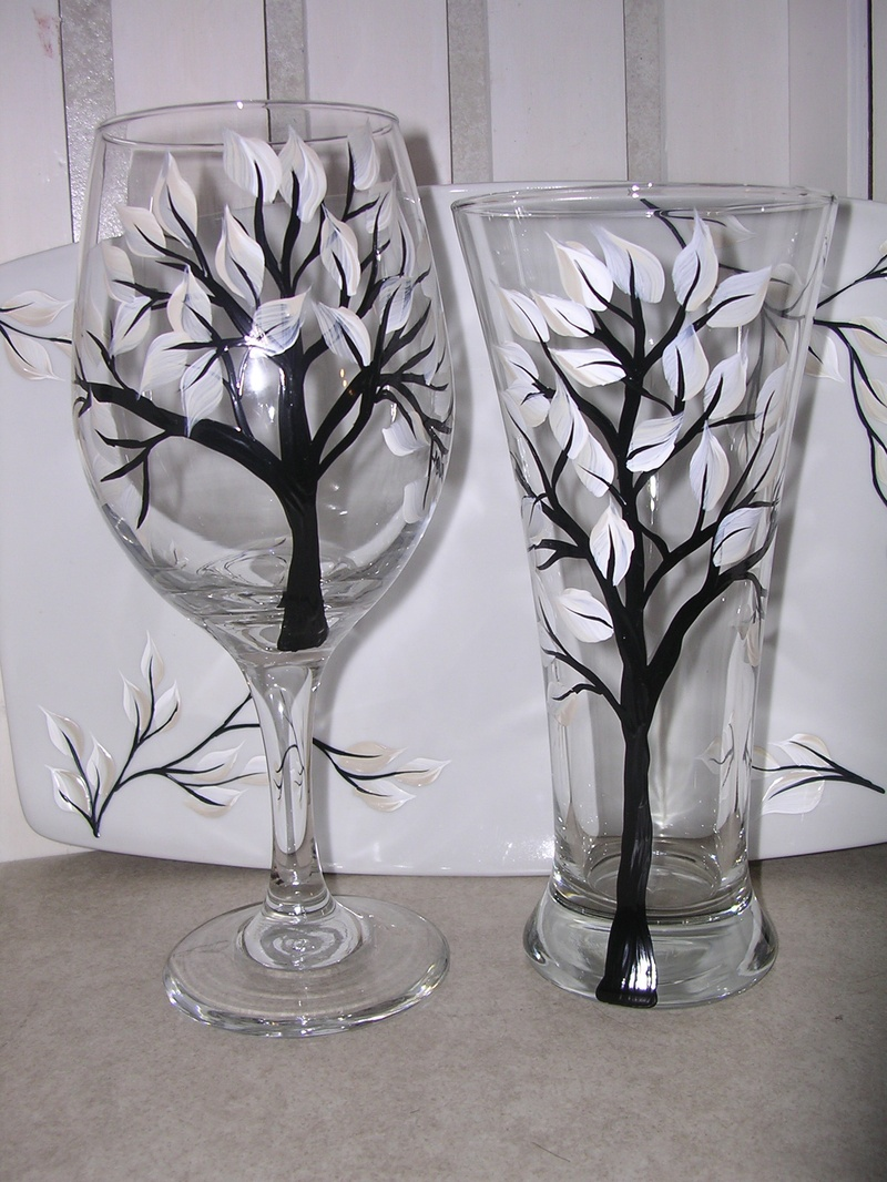 Free Stencils For Wine Glass Painting